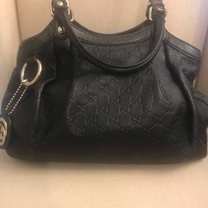 Gucci Black Leather Handbag Authentic